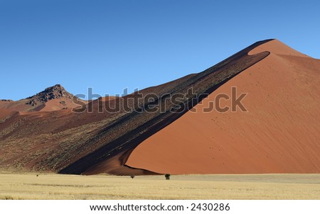 Rocky Dunes, Sossusvlei, Namibia. - stock photo