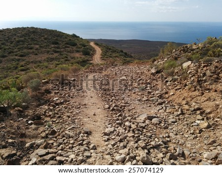 Rocky landscape of Tenerife. Canary Islands. Spain - stock photo