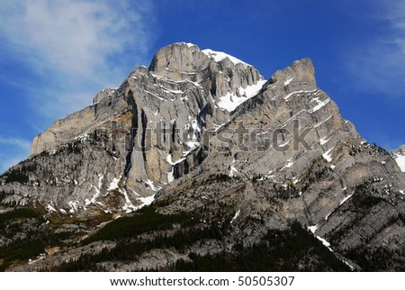 rocky mountain and forests when hiking on burstall pass, kananaskis country, alberta, canada