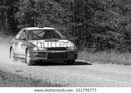 ROCKY MOUNTAIN - CANADA. 23.08.2015:Test Day Some of the best drivers from Canada are competing in the Rocky Mountain. The test held in different province of Canada's best dirt roads for motor-sport.