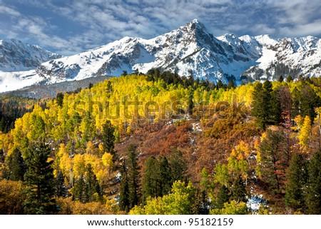 Rocky Mountain Colorado Autumn - stock photo