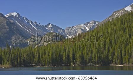 Rocky Mountain National Park Estes Park, Colorado Bear Lake - stock photo