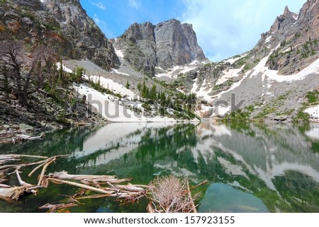 Rocky Mountain National Park in Colorado, USA. Emerald Lake view. - stock photo