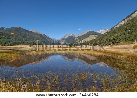 Rocky Mountain Reflection in Autumn