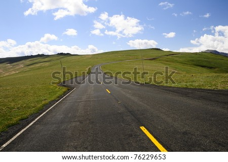 Rocky Mountain Road 3 - stock photo