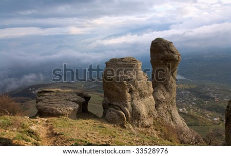 Rocky mountain view (Ghosts valley near Demerdzhi Mount, Crimea, Ukraine)