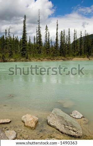 Rocky mountains, Canada - stock photo