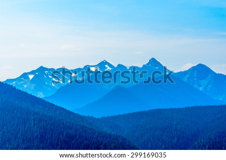 Rocky Mountains. Coastal Mountains. Blackwall Peak trail in Manning Park. British Columbia. Canada. - stock photo