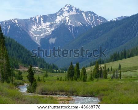 rocky mountains, Colorado - stock photo