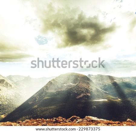 Rocky mountains in Colorado - stock photo