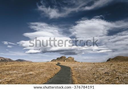Rocky Mountains National Park Landscape, Colorado, USA - stock photo