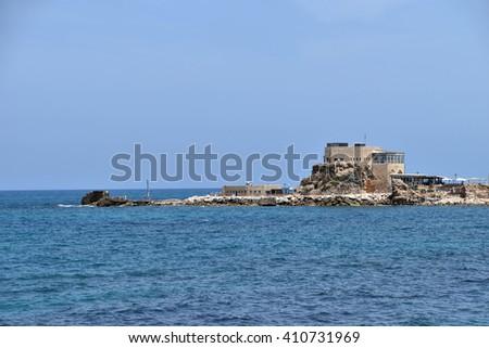 rocky shore - stock photo