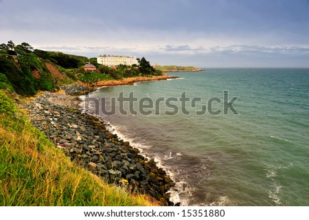 rocky shore near Dalkey, Dublin Bay, Ireland