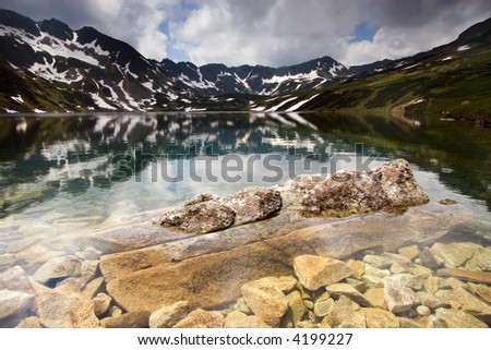 Rocky Water in the mountains - stock photo