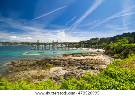 Rocquaine Bay, Island of Guernsey, Channel Islands, UK
