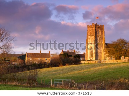 Rode church in Wiltshire England taken in late evening light - stock photo