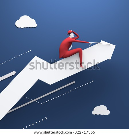 Rodeo. Business illustration. Render. - stock photo
