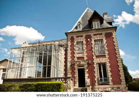 Rodin house museum in Paris -Meudon  - stock photo