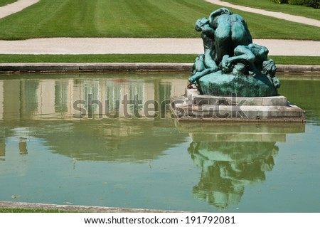 Rodin museum park in Paris - stock photo