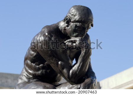 Rodins Thinker - stock photo