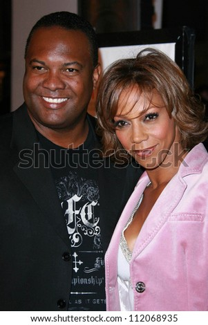 "Rodney Peete and Holly Robinson Peete  at the premiere of ""I Think I Love My Wife"". ArcLight Theatre, Hollywood, CA. 03-07-07"