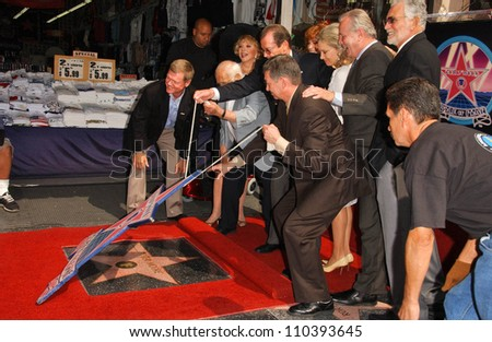 Roger Moore and friends  at the ceremony honoring Roger Moore with the 2,350th Star on the Hollywood Walk of Fame. Hollywood Boulevard, Hollywood, CA. 10-11-07 - stock photo