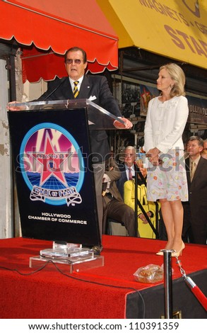 Roger Moore and wife Christina  at the ceremony honoring Roger Moore with the 2,350th Star on the Hollywood Walk of Fame. Hollywood Boulevard, Hollywood, CA. 10-11-07 - stock photo