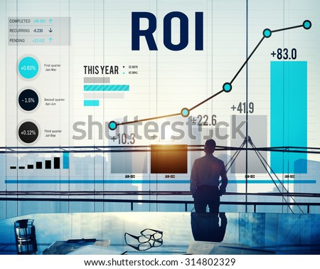 Roi Return On Investment Analysis Finance Concept - stock photo
