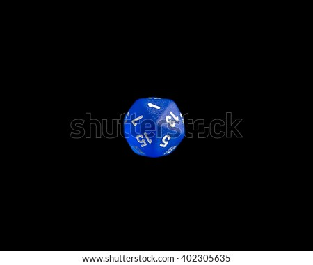 Role playing die showing a critical failure 1 roll on a d20 form a set of dice - stock photo