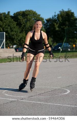 Roler skater - stock photo
