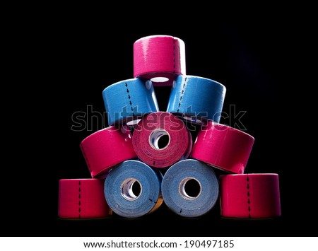 roles of medical tape - stock photo