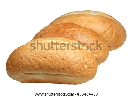 Roll from wheat flour it is isolated on a white background
