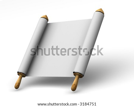 Roll of a paper. 3d
