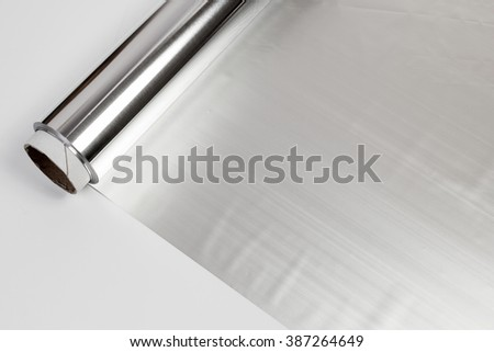 roll of aluminum gray foil paper