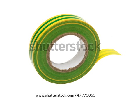 roll of bicolour insulating tape, isolated