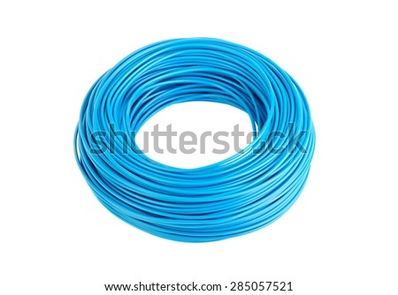 Roll of black electric wire