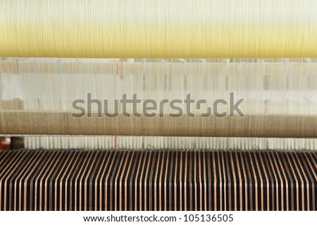 roll of  color weave - stock photo