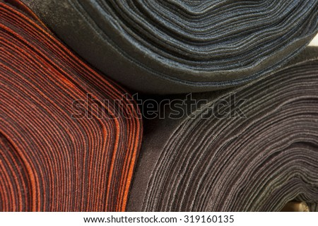 roll of fabric/ textile - stock photo
