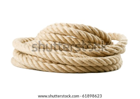 roll of rope isolated on white