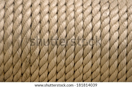 roll of ship ropes as background texture  - stock photo