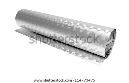 Roll of swirled metal foil