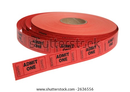 roll of tickets - stock photo