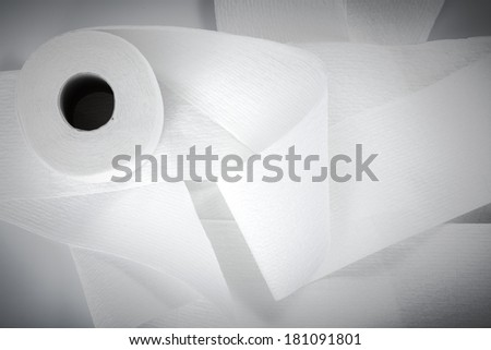 roll of toilet paper isolated on a white background