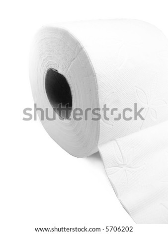 roll of toilet paper isolated on a white background.