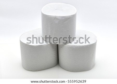 Roll Of Toilet Paper Isolated On White Background