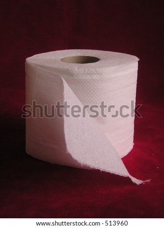 Roll of toilet tissue - stock photo