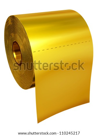 toilet made of gold. Roll Of Toilet Tissue Made Gold Toilet Tissue Made Gold Stock Illustration 110245217  Shutterstock
