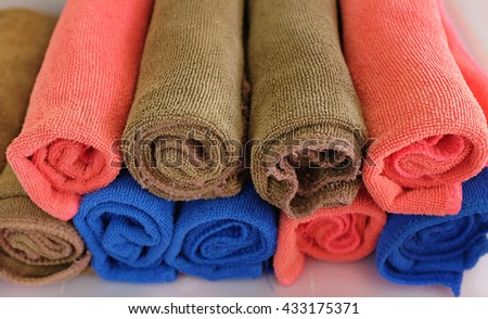 Roll of towels - stock photo