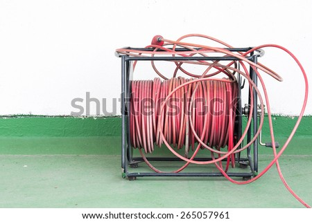 roll of wire - stock photo