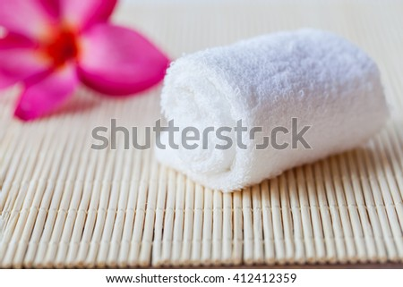 Roll Towel with plumeria